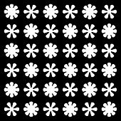 Vector Seamless Flower Ornament Pattern. Pattern Ornament With Black Background. Abstract Ornamental poster