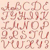 handwritten capital letters of English alphabet