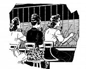 Switchboard Operators 2 - Retro Clipart Illustration