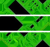 High Technology Background, Computer Circuit Board - Vector Illustration