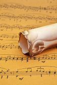 picture of pop up book  - Close up of Music sheet  - JPG