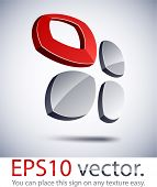 Vector illustration of garniture 3D abstract business symbol.