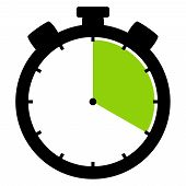 Isolated Stopwatch Icon Black Green Shows 20 Seconds 20 Minutes Or 4 Hours poster