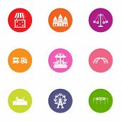 Game Movement Icons Set. Flat Set Of 9 Game Movement Icons For Web Isolated On White Background poster