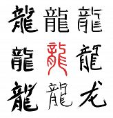 Dragão chinês hieróglifos