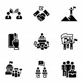 Political Election Icon Set. Simple Set Of 9 Political Election Icons For Web Design Isolated On Whi poster