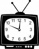 Cute wall clock television sticker.