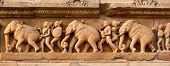 image of building relief  - Stone carving bas relief panorama - JPG