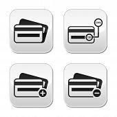 Tarjeta de crédito, CVV Código conjunto de botones