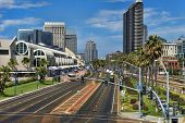 SAN DIEGO, CALIFORNIA - SEPTEMBER 29: Downtown and convention center on September 29, 2012 in San Di