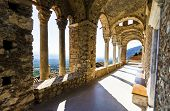 image of apostolic  - The monastery of Panayia Pantanassa at the historical site of Mystras a Byzantine castle in Greece - JPG