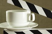 Cup On Clapboard