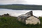 7242 Old Boat In Landscape