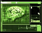 Green background brain interface technology
