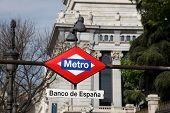 Metro Sign - Madrid