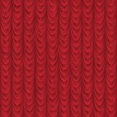 Seamless Red Drape Or Curtain Background