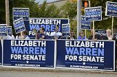 01 De octubre de 2012 Elizabeth Warren y Debate de Scott Brown