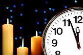 Sistema del reloj en tres minutos para la medianoche