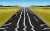Tire Track Road