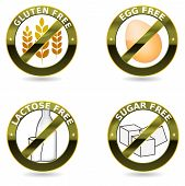 Beautiful diet icon collection