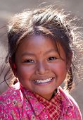 Portrait of nevaris girl, Nepal