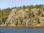Rock Parnassus Over Jastrebinoe Lake. Russia, Leningrad Region, Karelian Isthmus.