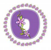 Alphabet Petite Ring Of Petals O