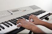 Musician Playing Electronic Piano