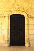 Detail of an old door at the Hieronimites MOnastery, Lisbon, Portugal