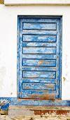 Old Wooden Blue Door