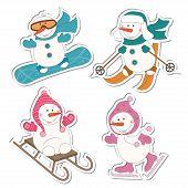 Winter sport  snowman