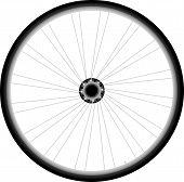 Fahrrad-Rad-Vektor auf weißem Hintergrund