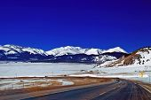 Winter Mountain Road In Colorado