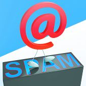 picture of maliciousness  - At Sign Spam Showing Malicious Spamming mailing - JPG