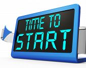 Time To Start Message Showing Beginning Or Activating