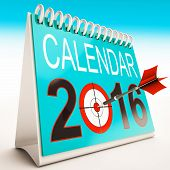 2016 Calendar Shows Year Planner And Schedule