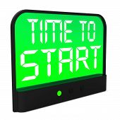 Time To Start Message Shows Beginning Or Activating