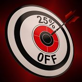 25 Percent Off Shows Markdown Bargain Advertisement