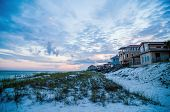 picture of gulf mexico  - destin florida beach life scenes in the evening - JPG