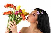 Frau schönen Frühling