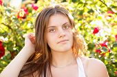Attractive Young Woman In The Open Air