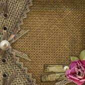 Textile Cover For An Album With Photos