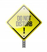 Do Not Disturb Sign Illustration