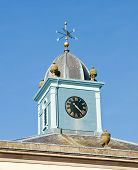 Weather Vane And Clock poster