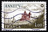 Postage Stamp France 1977 Annecy Chateau, Haute-savoie Department