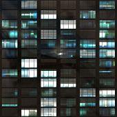 Voyeuring Office Building After Dark