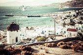 Detail Of Windmill On Mykonos Island, Greece.