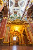 CZESTOCHOWA, POLAND - JUNE 24:nteriors of Jasna Gora monastery in Czestochowa on 24 June 2013. Sanct