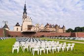 CZESTOCHOWA, POLAND - JUNE 24:Architecture of Jasna Gora monastery in Czestochowa on 24 June 2013. S