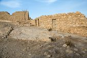 image of masada  - View of archeological details at the Masada fortress Israel - JPG